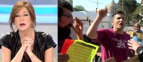 Un grupo de concentrados insultan a Ana Rosa Quintana