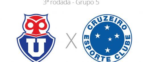 Universidad de Chile x Cruzeiro ao vivo