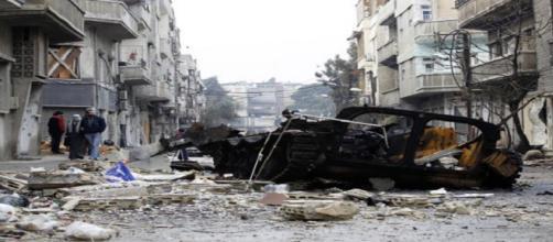 War scene in Syria/ Photo via http://www.europapress.es/