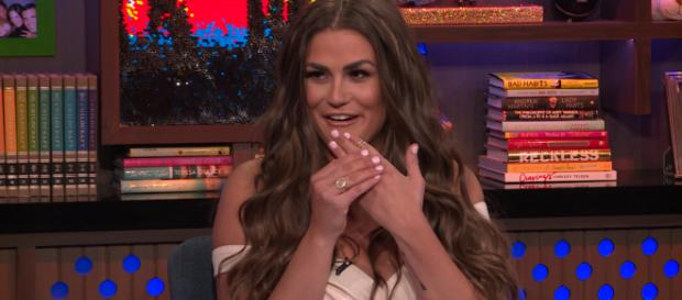 Brittany Cartwright shows off engagement ring on 'Watch What Happens Live?' [image source: Bravo/YouTube]