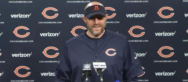 Coach Matt Nagy now has his schedule and is ready to get to work. - [Chicago Bears / YouTube screencap]