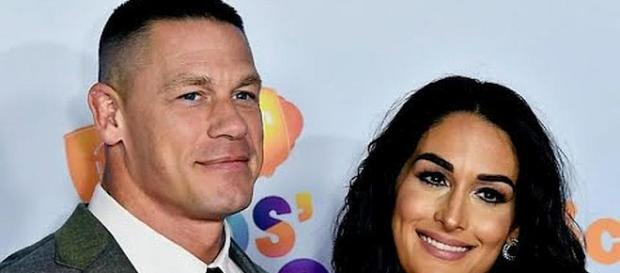 John Cena and Nikki Bella call off May 5 destination wedding [Image: Entertainment Tonight/YouTube screenshot]