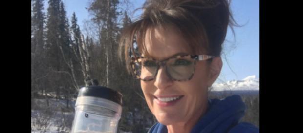 Sarah Palin on skinny tea, via Twitter