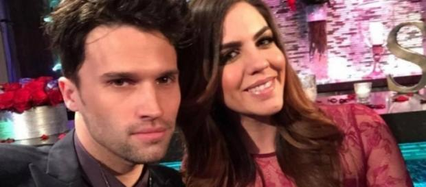 Tom Schwartz and Katie Maloney pose at the reunion. [Photo via Instagram]