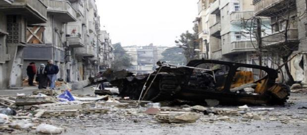 War scene in Syria/ Photo via http://www.europapress.es/