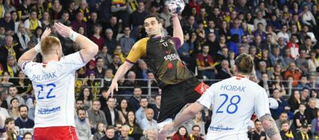 Kiril Lazarov lors du match face aux biélorusses de Brest.