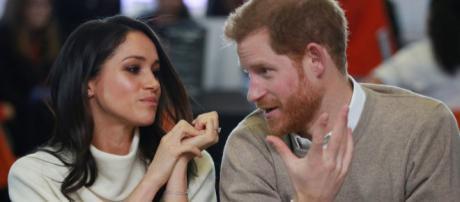 La ex actriz Meghan Markle y el príncipe Harry