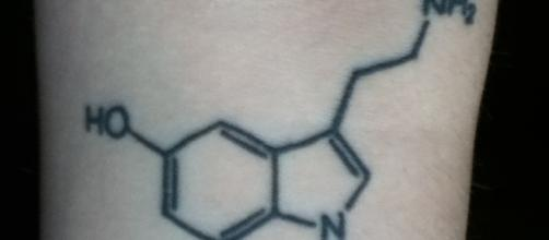 A photo of my serotonin tattoo. Picture Credit: Sloan Nielsen.