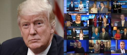 Donald Trump, Sinclair broadcasting, via Twitter
