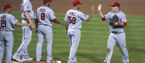 Angels celebrating a win. [Image Credit: Keith Allison/Flickr]