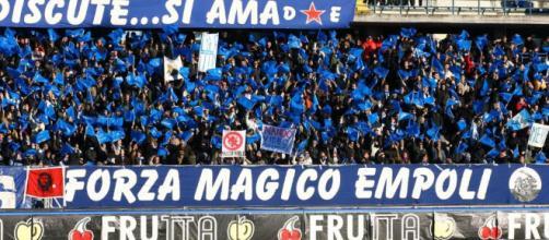 I tifosi dell'Empoli, quasi pronti a festeggiare la serie A
