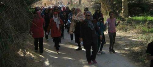 Marche organisée par l'ONCST en Tunisie