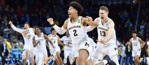 Michigan is one more win from running towards the 2018 NCAA Title. [Image via NCAA March Madness/YouTube]