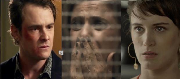 Gael, Sophia e Clara em 'O Outro Lado do Paraíso'. (foto reprodução).