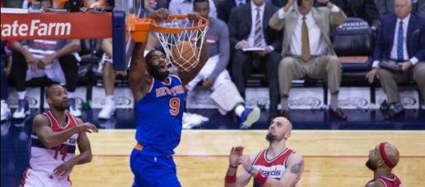 Kyle O'Quinn has a player option for next season. Image Source: Flickr   Keith Allison