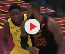 Victor Oladipo and the Pacers host LeBron James and the Cavs in Game 3 of their 2018 playoff series on Friday. [Image via NBA/YouTube]