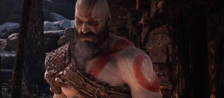 Kratos in the new 'God of War.' [image source: Playstation - YouTube]