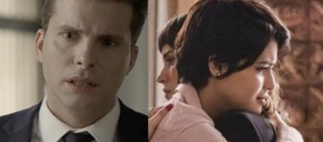 Patrick, Clara e Adriana em cenas de ''O Outro Lado do Paraíso''