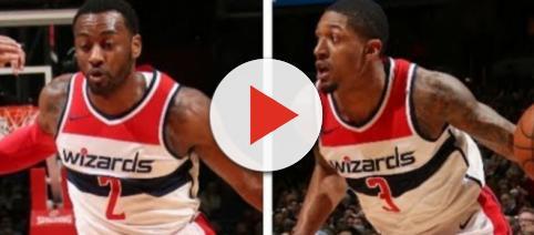 John Wall and Bradley Beal on the Wizards' backcourt. – [image: NBA.com media/ YouTube screencap]