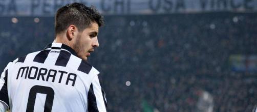 Alvaro Morata con maglia Juventus