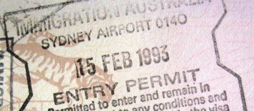 Australia sydney entry permit, Wikimedia Commons