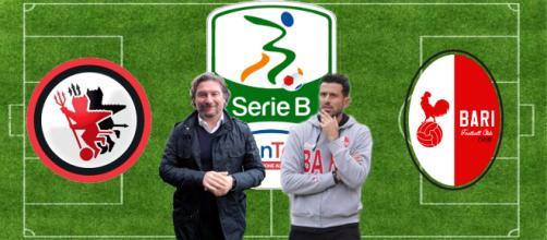 Giovanni Stroppa e Fabio Grosso, allenatori di Foggia e Bari