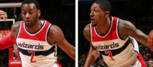 John Wall and Bradley Beal on the Wizards' backcourt. – [image: NBA.com media/ YouTube screencap]