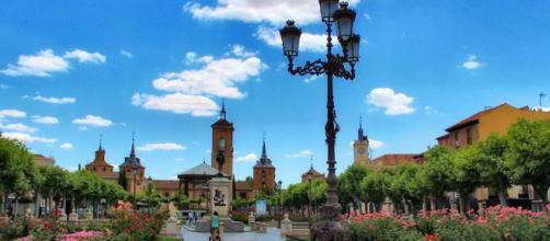 Praça de Cervantes, um dos pontos principais de Alcalá de Henares