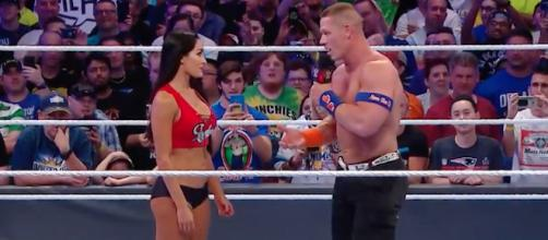 The recent breakup of John Cena and Nikki Bella has brought plenty of rumors with it. - [Image via WWE / YouTube screencap]