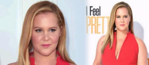 Amy Schumer attending the premiere for her movie 'I Feel Pretty.' [ image source:Instagram -@amyschumer]