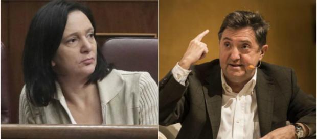 Carolina Bescansa y Jiménez Losantos en imagen