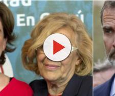 Ada Colau, Manuela Carmena y Felipe VI en imagen