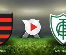 Flamengo x América-MG ao vivo neste sábado. (foto reprodução).
