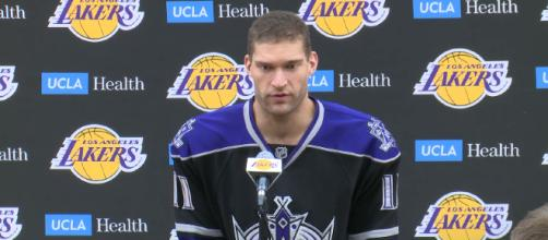 Brook Lopez is expected to leave the Los Angeles Lakers in free agency this summer. [image source: Los Angeles Lakers - YouTube]