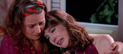 Cecília pede o divórcio para Gustavo em Carinha de Anjo (Foto: SBT)