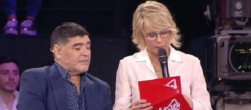Diego Armando Maradona e Maria De Filippi
