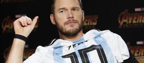 El actor de Infinity War con la camiseta de futbol argentina