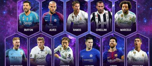 El Madrid reina en el Once del año de la UEFA y Messi salva al ... - marca.com