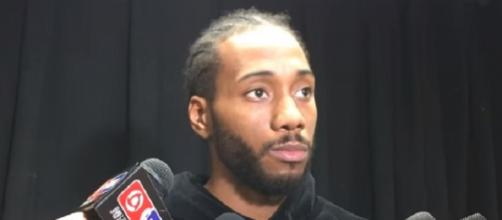 Kawhi Leonard was limited to nine games this season. - [Image Credit: ESPN / YouTube screencap]