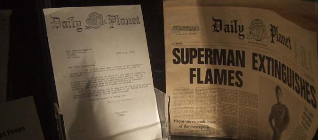 Fictional newspaper Daily Planet from Superman film series in London Film Museum (Image credit – cezzie901, Wikimedia Commons)