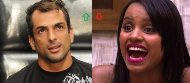 Marcelo Dourado e Gleici, vencedores do ''BBB''