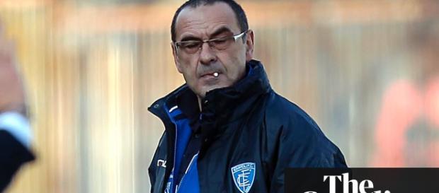 Maurizio Sarri sera el tecnico del Chelsea la otra temporada.