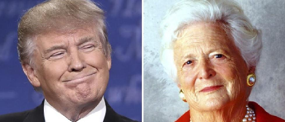 Donald Trump bows out of Barbara Bush's funeral to 'avoid disruptions'