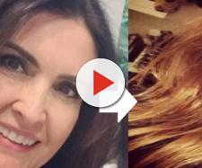 Fátima Bernardes abandona cabelos pretos e fica irreconhecível: 'Está linda'