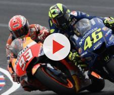 MotoGp, scontro tra Marquez e Rossi