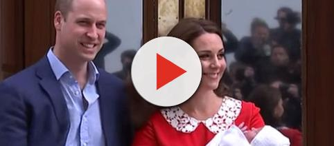 Prince William and Duchess Kate welcome third baby [Image: Daily Mail/YouTube screen shot]