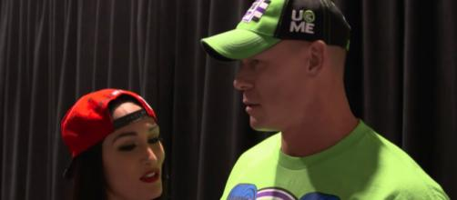 A source in a new report suggests John Cena and Nikki Bella could get back together again. [Image via TheBellaTwins/YouTube]