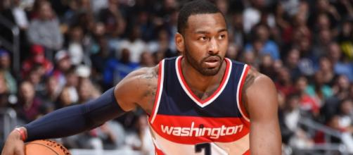 John Wall and the Wizards host Game 4 of their first-round series against Toronto on Sunday night. [Image via NBA/YouTube]