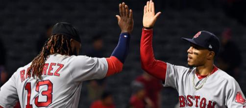 The Red Sox are off and running in the AL East. [Image via USA Today/YouTube]