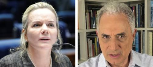 William Waack detona Gleisi Hoffmann